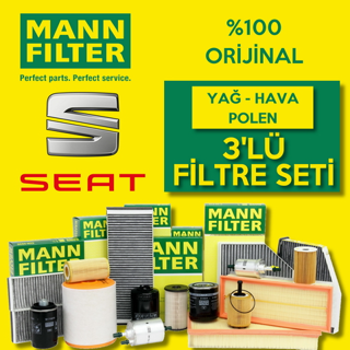 Seat Leon 1.2 Tsı Mann-filter Filtre Bakım Seti 2013-2017 Cjz resmi