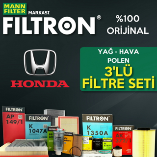 Honda Civic 1.6 FD6 Filtron Filtre Bakım Seti 2007-2012 resmi