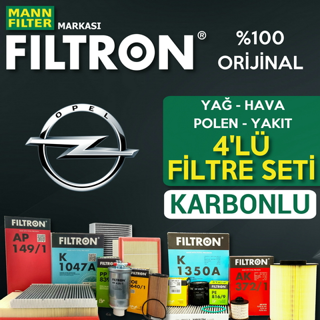 Opel Astra J 1.3 CDTI Filtron KARBONLU Filtre Bakım Seti 2009-2015 resmi