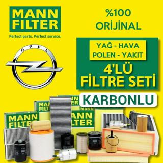 Opel Astra J 1.3 CDTI Mann-Filter KARBONLU Filtre Bakım Seti 2009-2015 resmi