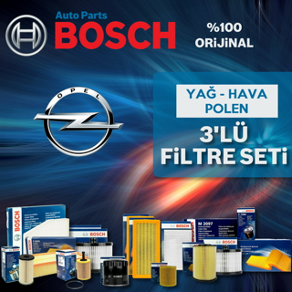 Opel Astra J 1.4 16V Turbo Bosch Filtre Bakım Seti 2010-2015 resmi