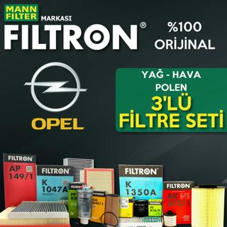 Opel Astra J 1.4 16V Turbo Filtron Filtre Bakım Seti 2010-2015 resmi