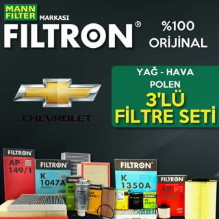 Chevrolet Cruze 1.6 Filtron Filtre Bakım Seti 2010-2013 resmi