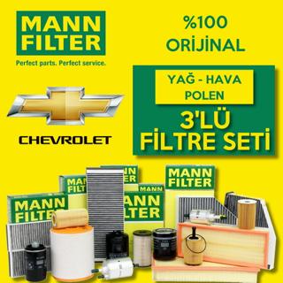 Chevrolet Cruze 1.6 Mann-Filter Filtre Bakım Seti 2010-2013 resmi