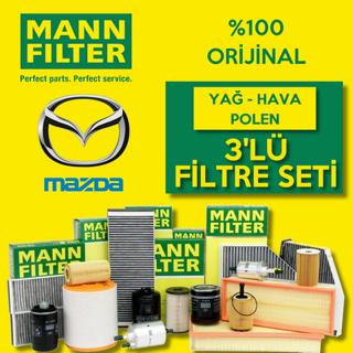 Mazda 3 1.6 Mann-Filter Filtre Bakım Seti 2004-2008 resmi