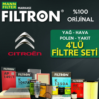 Citroen C-Elysee 1.6 Hdi Filtron Filtre Bakım Seti 2013 - 2018 resmi