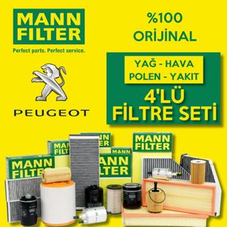 Peugeot 301 1.6 Hdi Mann-Filter Filtre Bakım Seti 2013 - 2018 resmi