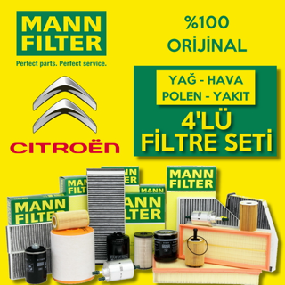 Citroen C-Elysee 1.6 Hdi Mann-Filter Filtre Bakım Seti 2013 - 2018 resmi