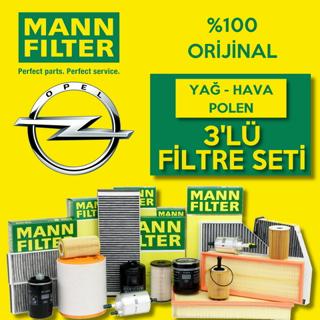Opel Astra J 1.6 16V Turbo Mann-Filter Filtre Bakım Seti 2009-2015 resmi