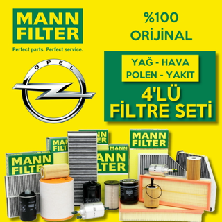 Opel Astra J 1.6 CDTI 2009-2015 Mann-Filter Filtre Bakım Seti resmi
