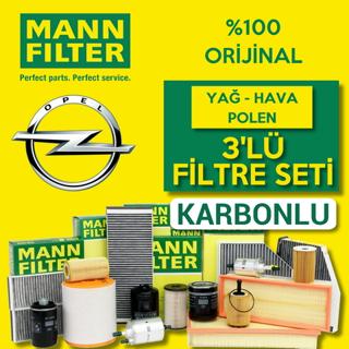 Opel Astra K 1.6 CDTi Mann-Filter Filtre Bakım Seti 2015-2018 resmi