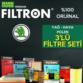 Skoda Fabia 1.6 TDI Filtron Filtre Bakım Seti 2010-2013 resmi