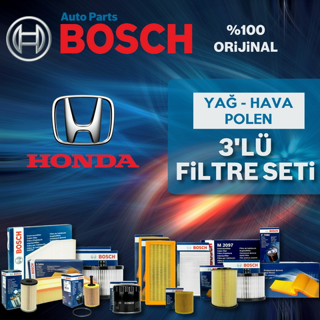 Honda Jazz 1.4 Bosch Filtre Bakım Seti 2002-2008 L13A resmi