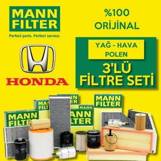 Honda City 1.4 Mann-Filter Filtre Bakım Seti 2009-2011 L13Z resmi