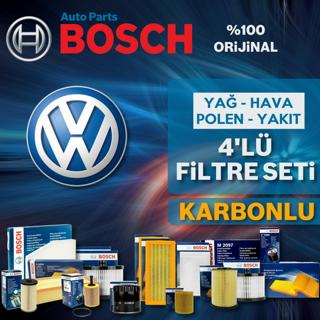 VW Bora 1.6 Bosch KARBONLU Filtre Bakım Seti 1998-2005 BCB, AZD resmi