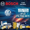 VW Bora 1.9 TDI Mann-Filter KARBONLU Filtre Bakım Seti 1998-2005 resmi