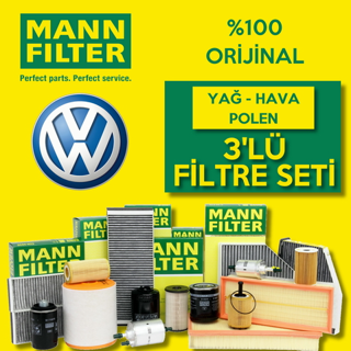 VW Caddy 1.9 TDI Mann-Filter Filtre Bakım Seti 2004-2005 resmi