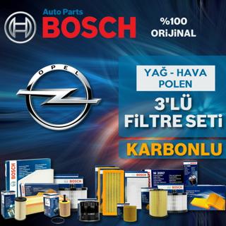 Opel Astra J 1.3 CDTI Bosch KARBONLU Filtre Bakım Seti 2009-2015 resmi