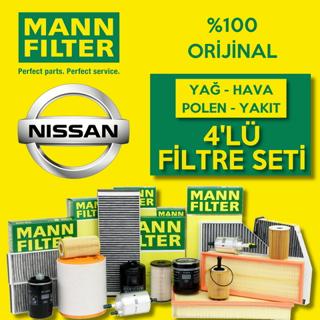Nissan Qashqai 1.6 DCI Mann-Filter Filtre Bakım Seti 2014-2017 resmi
