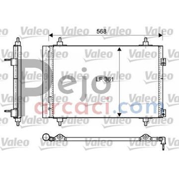 Citroen DS4 2.0 HDi 165 2011-2015 Valeo Klima Radyatörü resmi