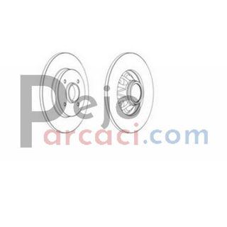 PEUGEOT 3008 MPV 1.6 BlueHDi 120 2014-2016 Ferodo Arka Fren Diski resmi